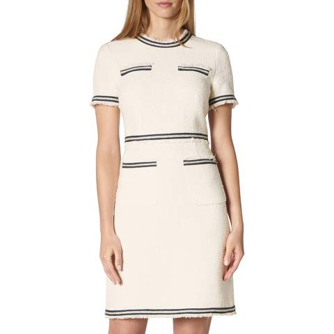 L K Bennett Cream Susanna Tweed Dress