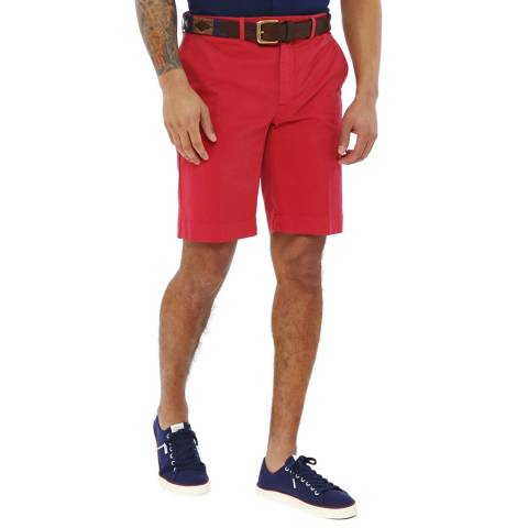 Hackett London Red Amalfi Stretch Cotton Shorts
