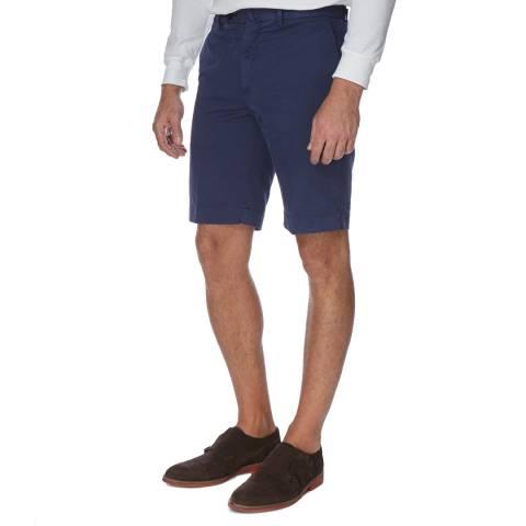 Hackett London Navy Amalfi Stretch Cotton Shorts