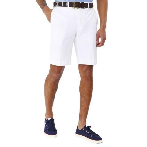 Hackett London White Amalfi Stretch Cotton Shorts