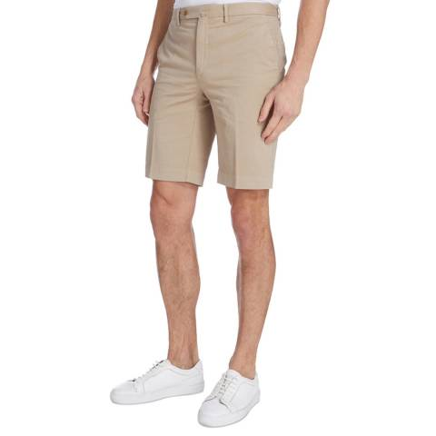 Hackett London Sand Amalfi Stretch Cotton Shorts