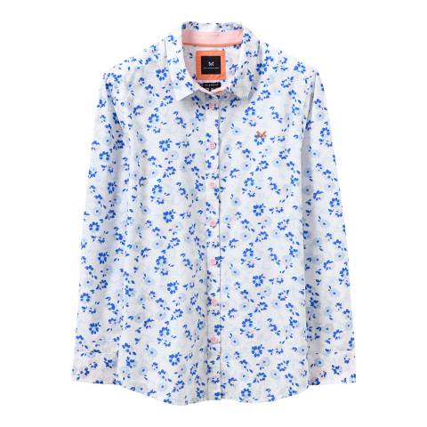 Crew Clothing White Floral Print Cotton Shirt
