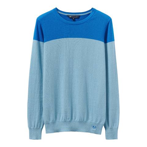 Crew Clothing Blue Foxy Crew Neck Jumper