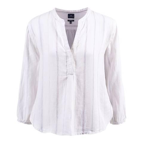 Crew Clothing White Cleo Linen Shirt