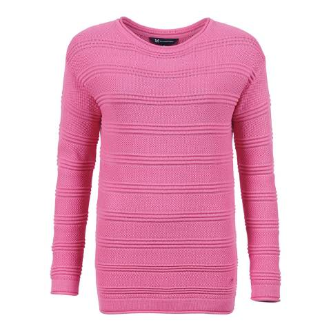 Crew Clothing Pink Salcome Jumper