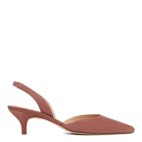 L K Bennett Dark Pink Larissa Kitten Heel Shoes