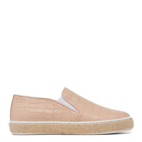 L K Bennett Nude Juliana Slip On Trainers