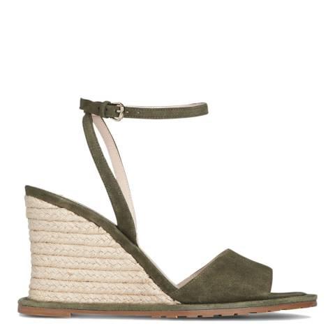 L K Bennett Khaki Suede Talitha Casual Sandals