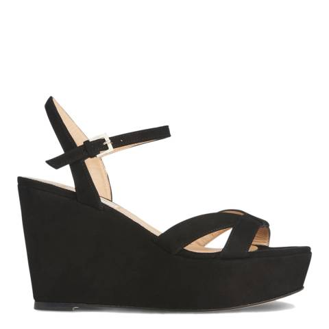 L K Bennett Black Suede Henuita Formal Sandals