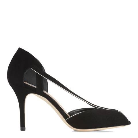 L K Bennett Black Suede Liya Formal Sandals