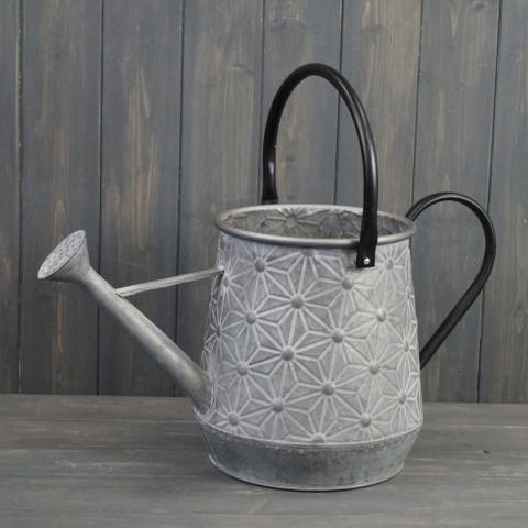 The Satchville Gift Company Embossed Daisy Design Watering Can