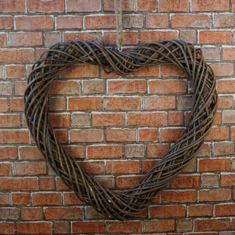 The Satchville Gift Company Extra Large Unpeeled Willow Heart