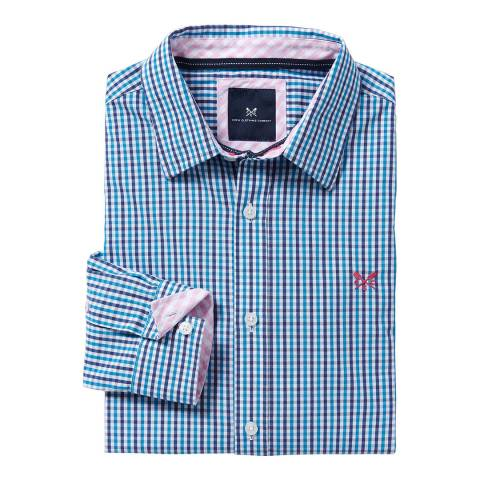 Crew Clothing Blue Tattersall Cotton Shirt