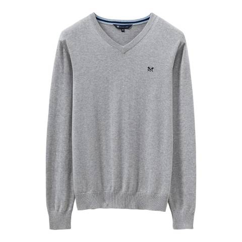 Crew Clothing Grey V Neck Cotton