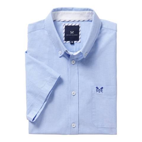Crew Clothing Blue Short Sleeved Cotton Shirt
