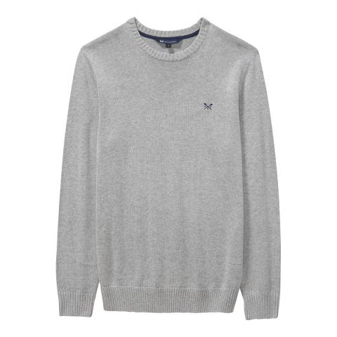Crew Clothing Grey Regatta Cable Crew