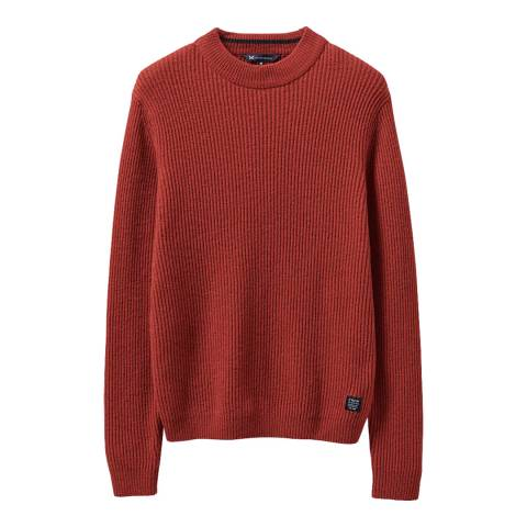 Crew Clothing Red Funnel Neck Jumper