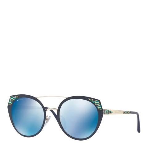 Bvlgari Women's Blue Bvlgari Sunglasses 53mm