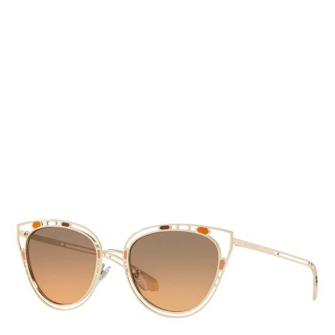 Bvlgari Women's Gold Bvlgari Sunglasses 54mm