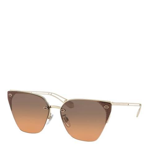Bvlgari Women's Gold Bvlgari Sunglasses 63mm