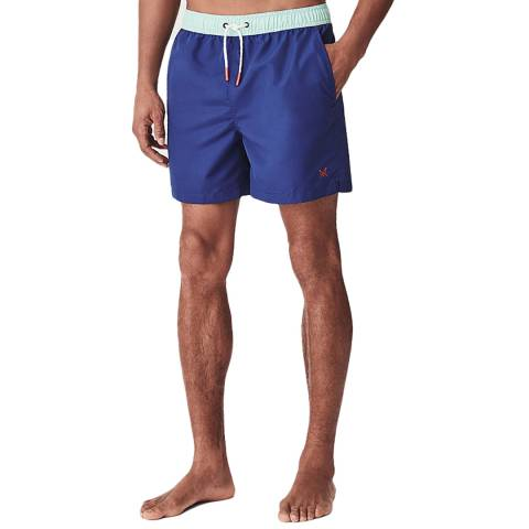 Crew Clothing Blue Peppermint Contrast Swim Short