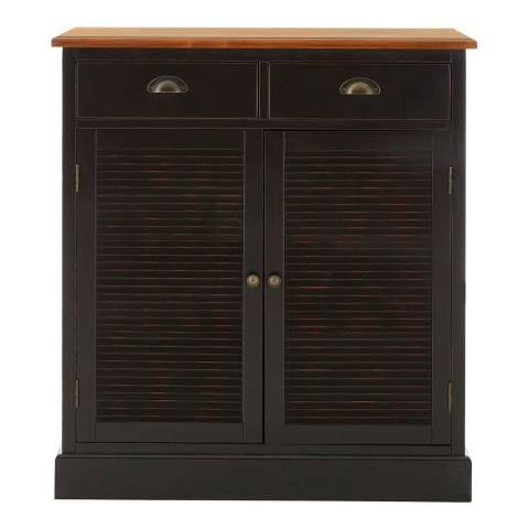 Premier Housewares Virginia Cabinet, 2 Doors / 2 Drawers, Black