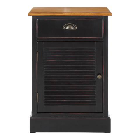 Premier Housewares Virginia Small Cabinet, 1 Drawer / 1 Door, Black