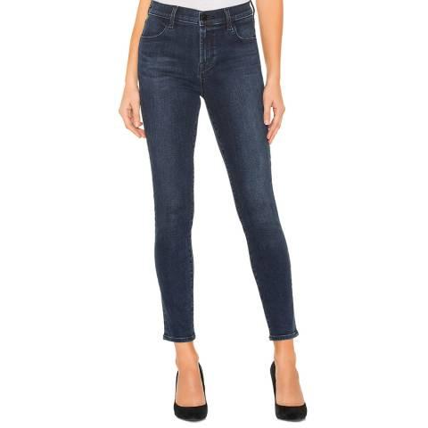 J Brand Navy Alana Crop Skinny Stretch Jeans