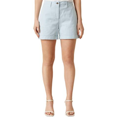 Jigsaw Light Blue Tapered Chino Shorts
