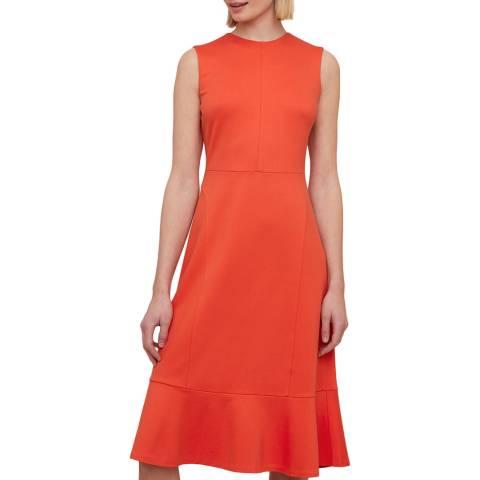 Jigsaw Coral Peplum Hem Jersey Dress