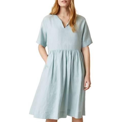 Jigsaw Blue Linen T-shirt Dress