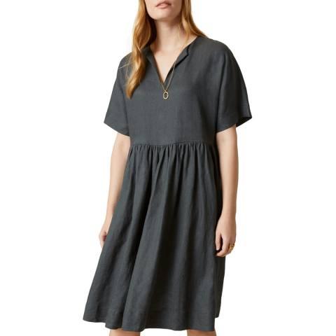Jigsaw Slate Linen T-shirt Dress