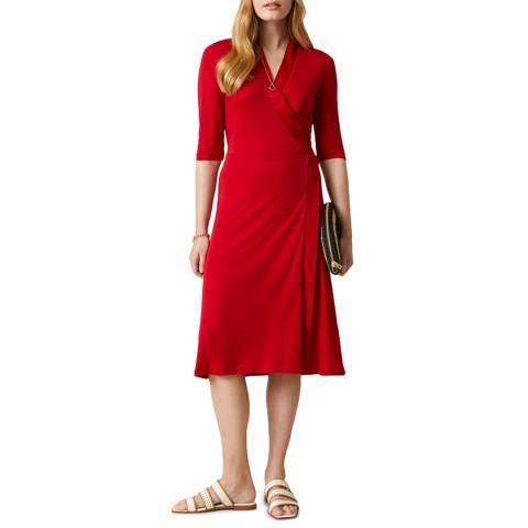 Jigsaw Red Short Wrap Dress