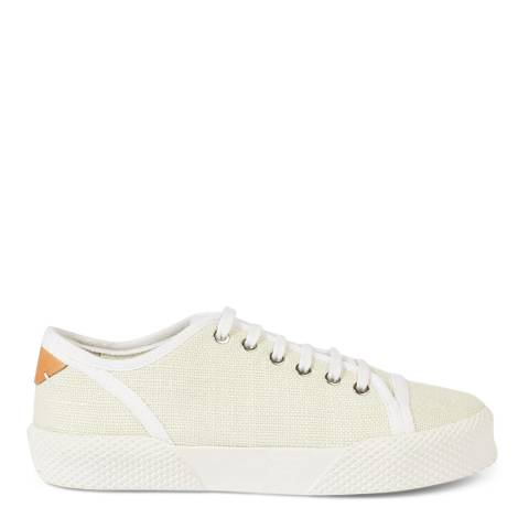 Jigsaw Ivory Estelle Canvas Plimsolls