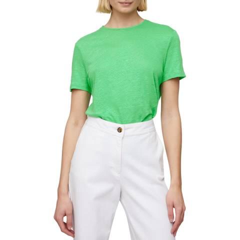 Jigsaw Green Skye Linen Crew T-Shirt