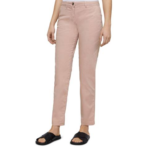 Jigsaw Pink Slim Leg Stretch Chinos