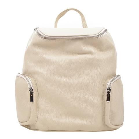 Luisa Vannini Beige Leather Backpack