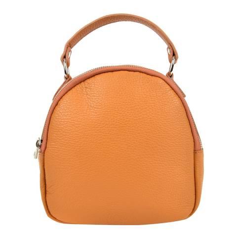 Isabella Rhea Cognac Leather Backpack