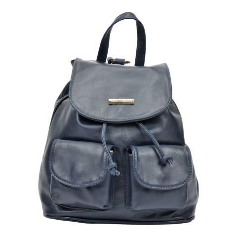 Sofia Cardoni Navy Leather Backpack
