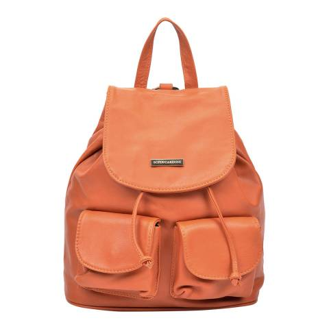 Sofia Cardoni Cognac Leather Backpack