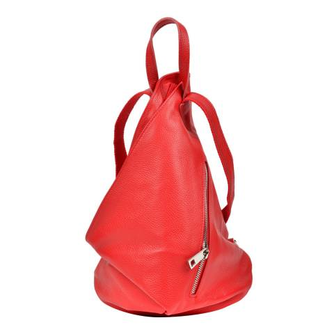 Isabella Rhea Red Leather Backpack