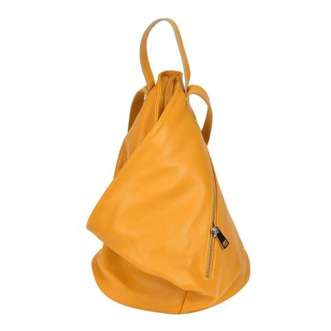 Isabella Rhea Yellow Leather Backpack