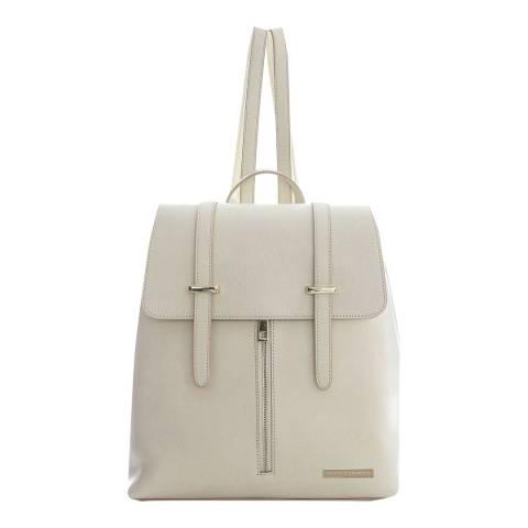 Sofia Cardoni Beige Leather Backpack