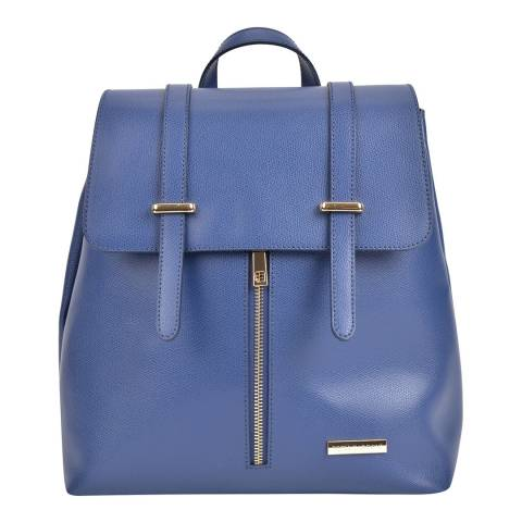 Sofia Cardoni Blue Leather Backpack