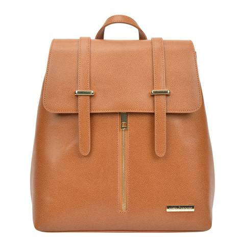 Sofia Cardoni Cognac Leather Backpack