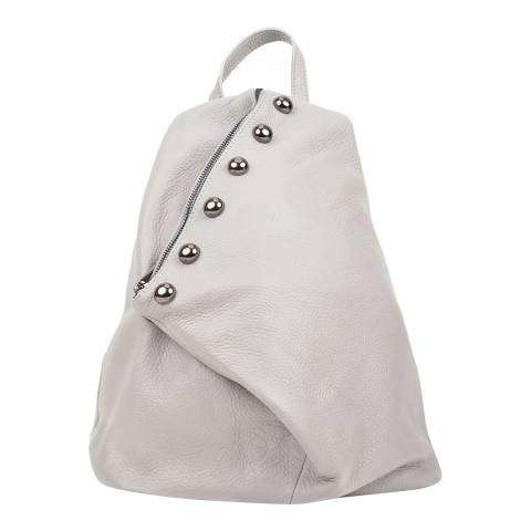 Luisa Vannini Grey Leather Backpack