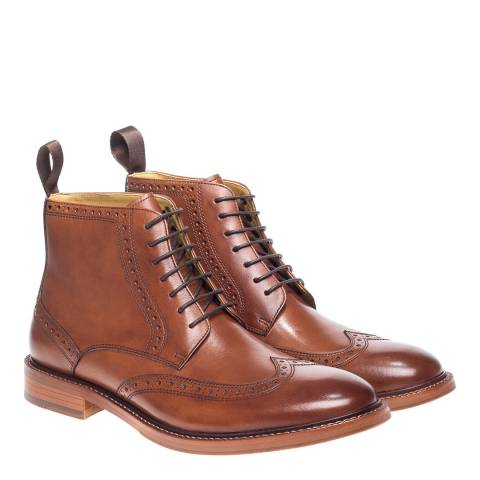 Steptronic Cognac Bicester Lace Up Brogue Boots