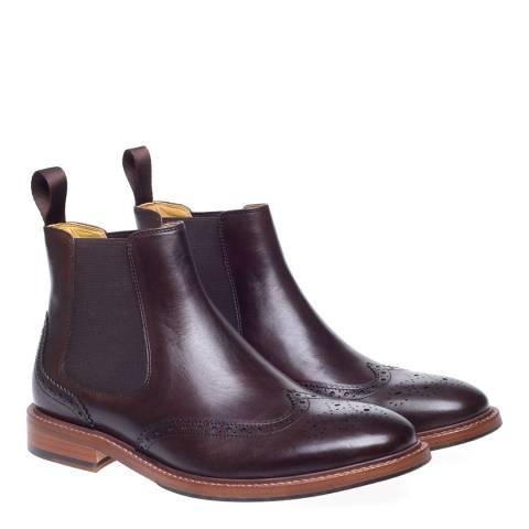 Steptronic Brown Buckingham Brogue Chelsea Boots