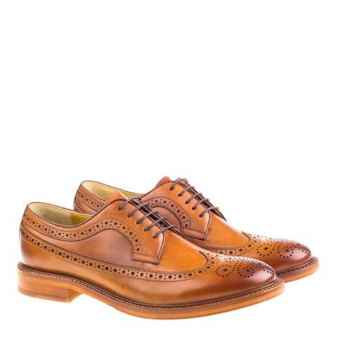 Steptronic Cognac Buxton Brogue Shoes