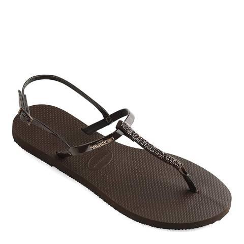Havaianas Crystal Black You Riviera Sandals